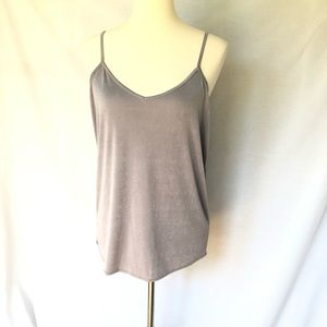 Grehy Gray Cami, size L, New With Tags